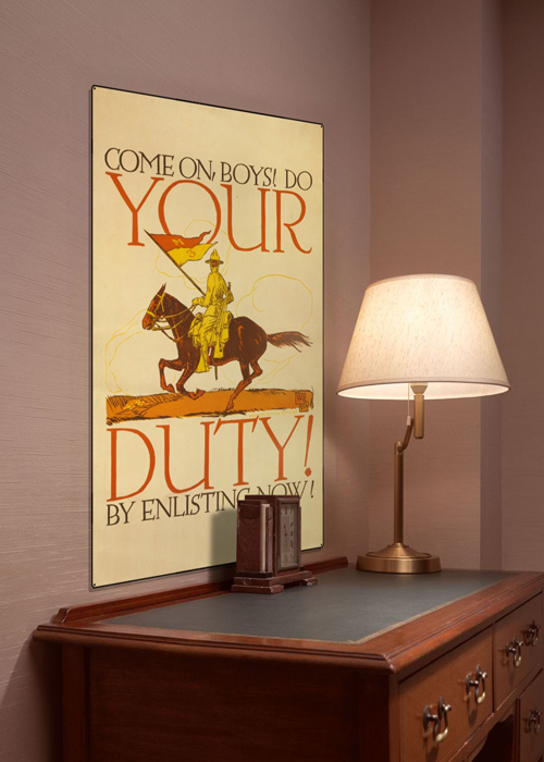 WWI Poster Art Decor US Army Your Duty To Enlist Steel Metal Vintage Image Wall Decor Art DISPLAY 1