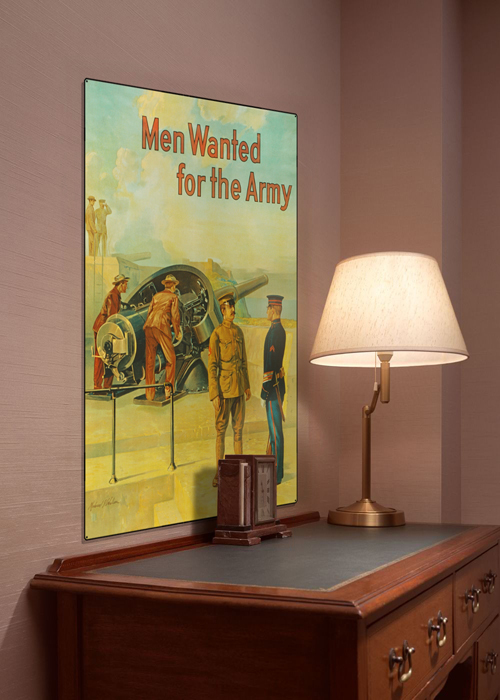 WWI Poster Art Decor US Army Men Wanted Steel Metal Vintage Image Wall Decor Art DISPLAY 1