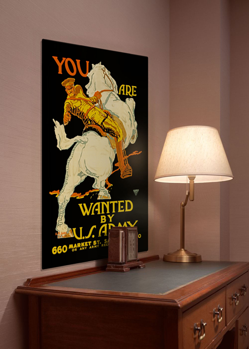 WWI Poster Art Decor US Army You Are Wanted Steel Metal Vintage Image Wall Decor Art DISPLAY 1
