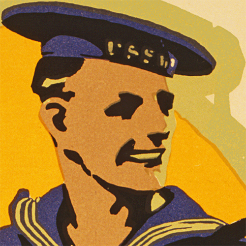 WWI Poster Art Decor USN US Navy Opportunity Steel Metal Vintage Image Wall Decor Art DETAIL