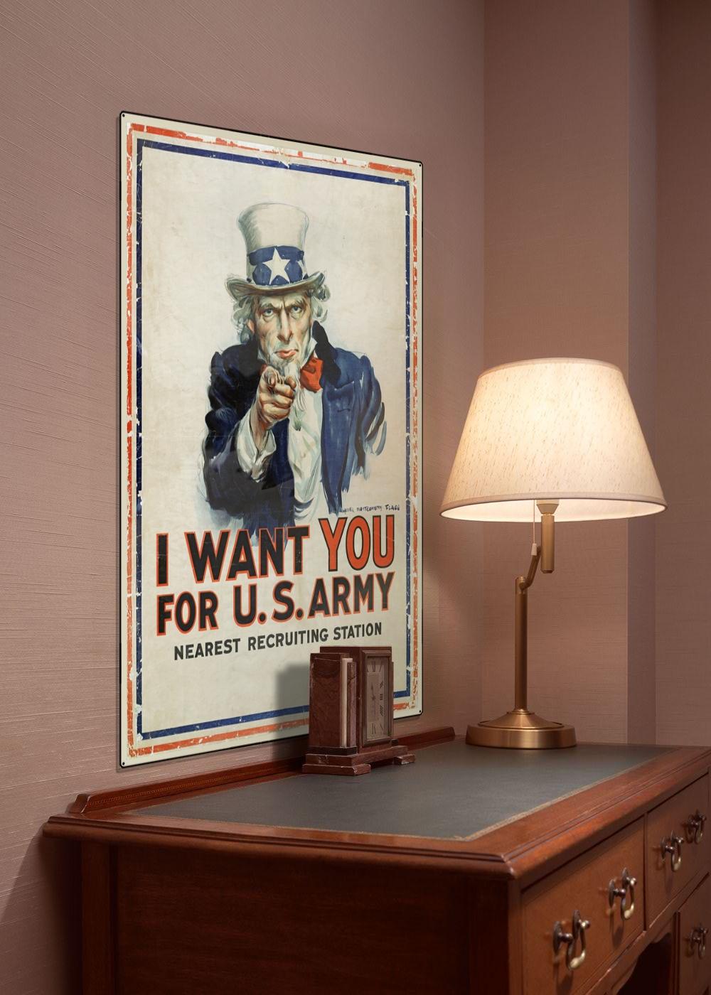 WWI Poster : US Army : REPLACE-ImageTitle : WW1 Propaganda World War I