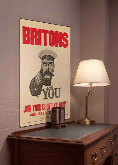 WWI Poster Art Decor Britons Lord Kitchener Wants You Steel Metal Vintage Image Wall Decor Art DISPLAY 1
