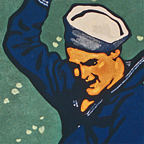 WWI Poster Art Decor Join the Navy Torpedo US Sailor Steel Metal Vintage Image Wall Decor Art DETAIL