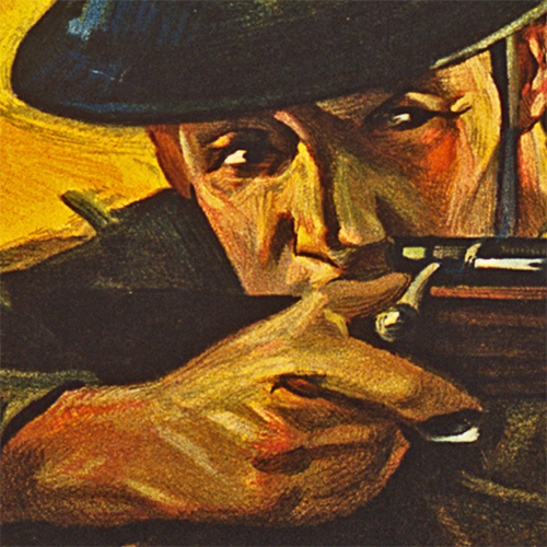 WWI Poster Art Decor Liberty Bonds Lend As They Fight Steel Metal Vintage Image Wall Decor Art DETAIL
