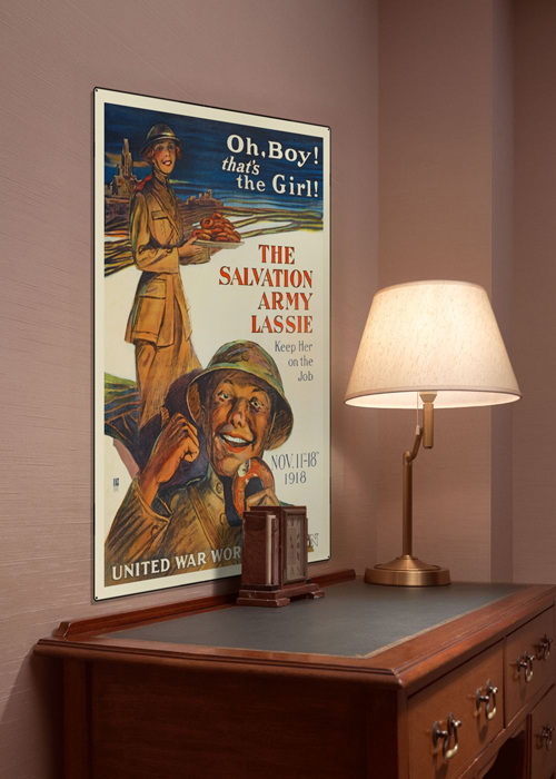 WWI Poster Art Decor The Salvation Army Lassie Steel Metal Vintage Image Wall Decor Art DISPLAY 1