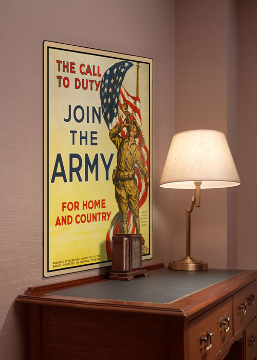WWI Poster Art Decor Join the US Army Call Of Duty Steel Metal Vintage Image Wall Decor Art DISPLAY 1