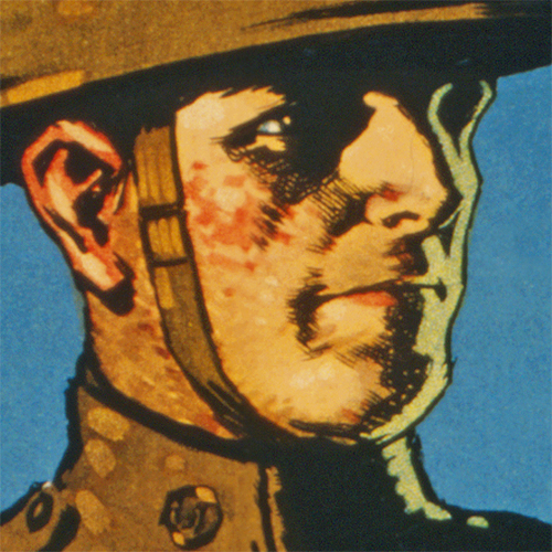 WWI Poster Art Decor Enlist For the Infantry US Army Steel Metal Vintage Image Wall Decor Art DETAIL