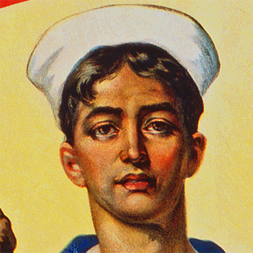WWI Poster Art Decor Join the US Navy Get the Signal Steel Metal Vintage Image Wall Decor Art DETAIL