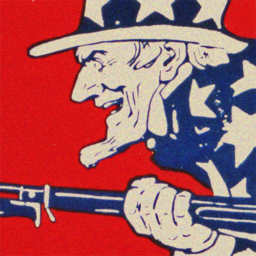 WWI Poster Art Decor July 4th Uncle Sam's Birthday Steel Metal Vintage Image Wall Decor Art DETAIL