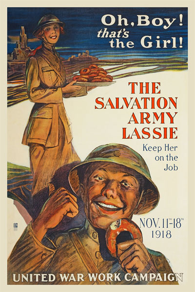 WWI Poster : Misc : The Salvation Army Lassie : WW1 Propaganda World War I
