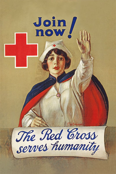 WWI Poster : Red Cross : Nurse Join Now : WW1 Propaganda World War I