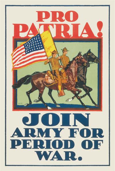 WWI Poster : US Army : Pro Patria! : WW1 Propaganda World War I